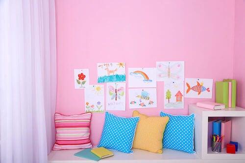 cuscini colorati per le camerette per bambini