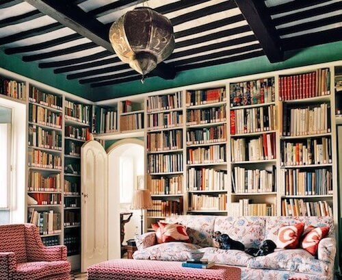 Sala di lettura in stile bohemien