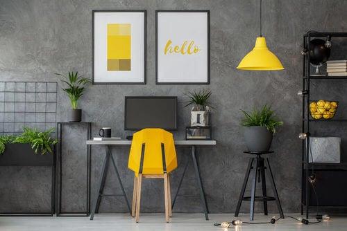 Spazio ufficio equilibrio decorativo