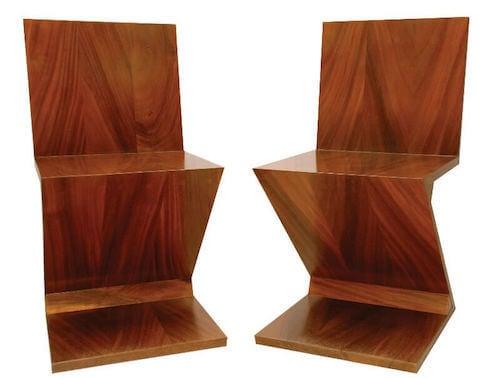 Sedia zig zag in legno