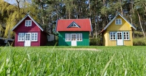 Tre piccole case