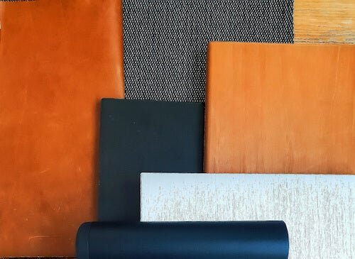 campioni di tessuti con texture e materiali diversi