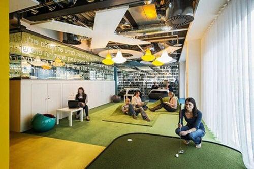 Uffici di Google con giochi