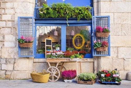 Decorate il negozio in stile mediterraneo