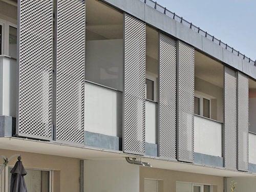 elementi decorativi in alluminio traforato