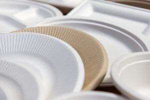 Usare piatti di carta per utilizzare meno plastica in casa