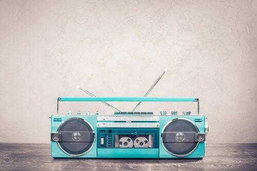 Radio cassette come risorsa decorativa