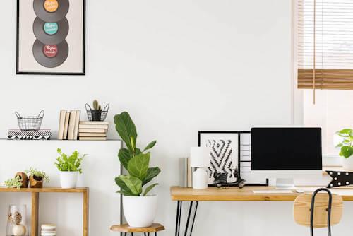 decorare l'ufficio in casa in stile feng shui