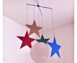 Galassia di stelle per decorare la stanza dei bambini.