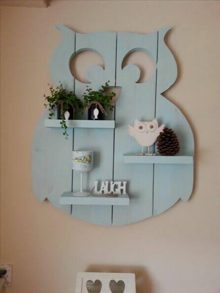 Gufi decorativi per la parete