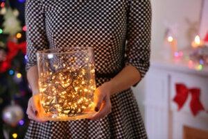 Illuminazione natalizia alla moda.