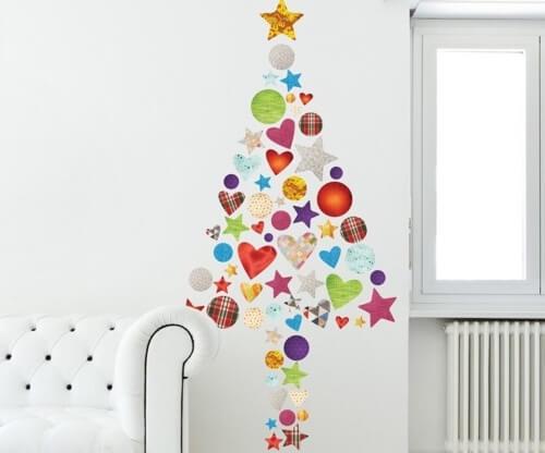 Vinili con decorazioni natalizie.
