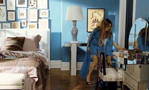 Camera da letto pareti color blu