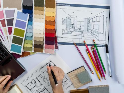 schizzi e disegni per progetti interni casa