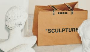 Borsa di cartone sculpture