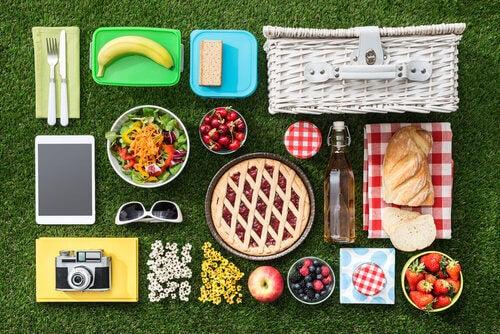 Tutto ciò che serve durante un picnic.