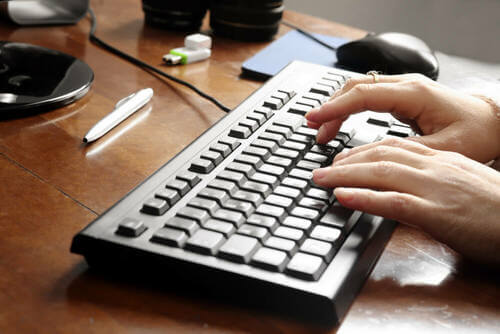 Digitare sulla tastiera