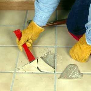 Come cambiare una mattonella rotta