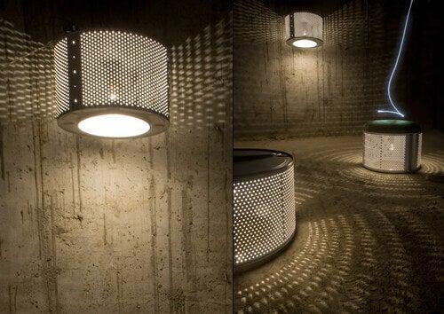 Idee design per riciclare il cestello della lavatrice
