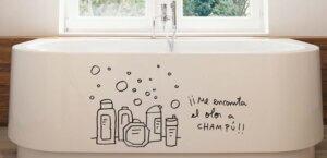 Decorare la vasca da bagno con sticker adesivi