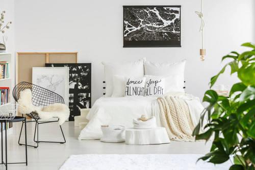 Una camera da letto per adolescenti in stile nordico