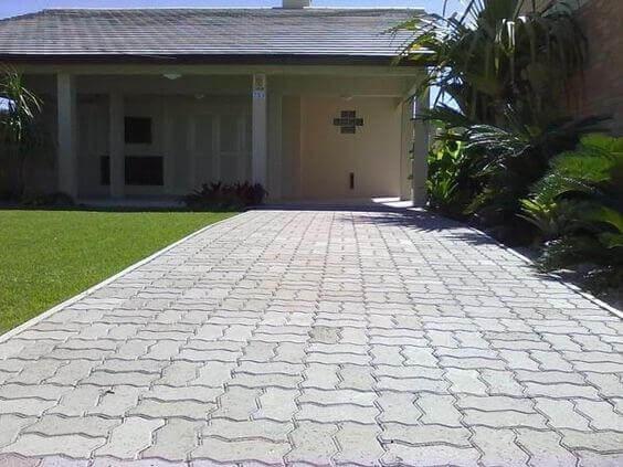 Pavimentazione di accesso al garage