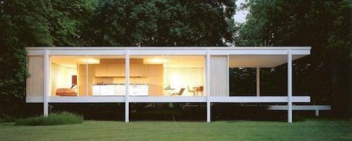 Casa Farnsworth esterni illuminazione