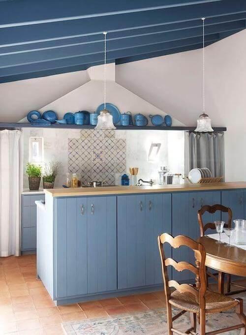 cucina blu indaco