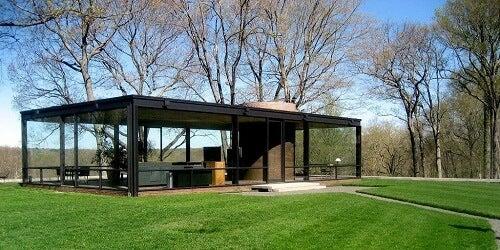 Interni ed esterni della Glass House, capolavoro del modernismo