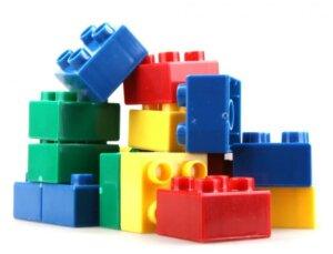 Decorare casa con lego giganti