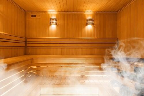 Pulizia della sauna