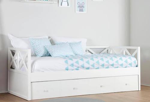 letto estraibile singolo bianco