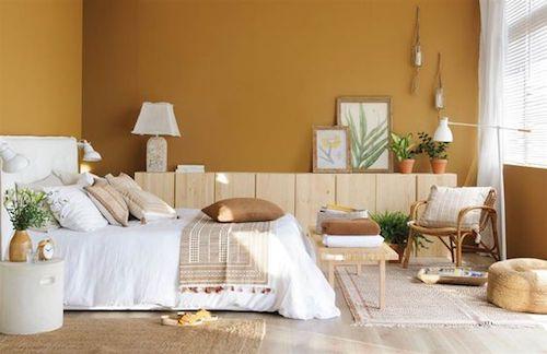 camera da letto colori caramello