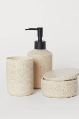 Dispenser sapone in finto granito