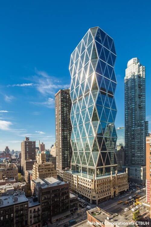 Facciata hearst tower new york