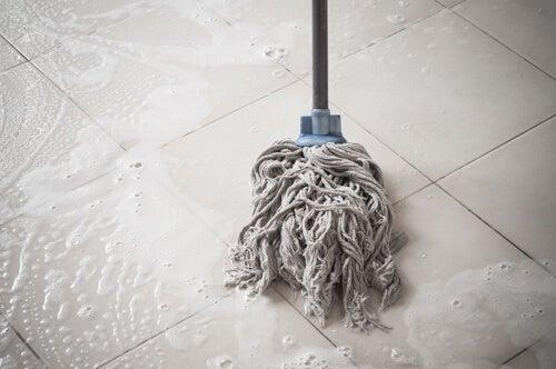 Lavapavimenti moccio con detersivo per pavimenti