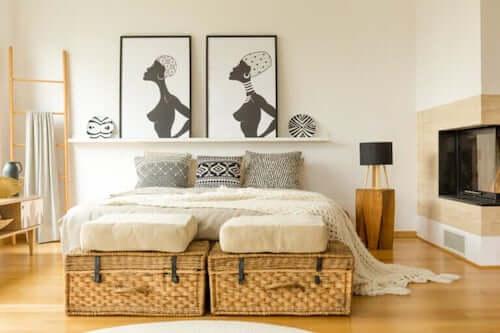 Piedi del letto: 8 idee per decorare questa zona