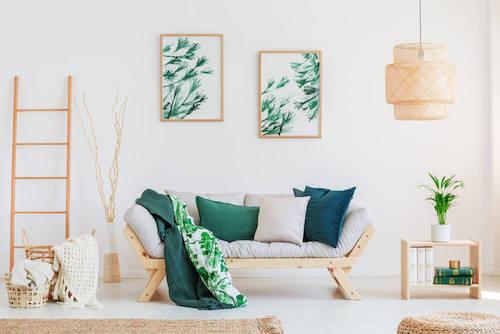 quadri con foglie delle piante