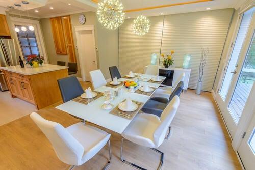 Sala da pranzo in bianco