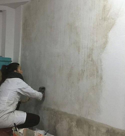 Pittura pareti tecnica della velatura.