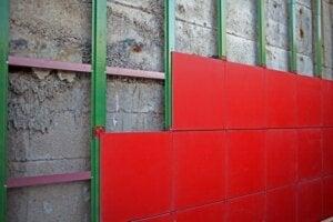 Tipo di isolamento termico con facciata ventilata.