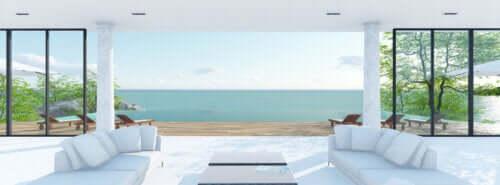 Casa vacanze sulla spiaggia con vista mare.