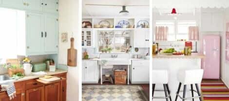 Cucina vintage bianca