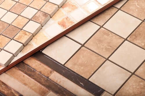 Esempi di pavimenti in ceramica.