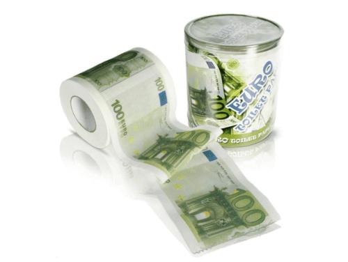 Carta igienica a tema euro.