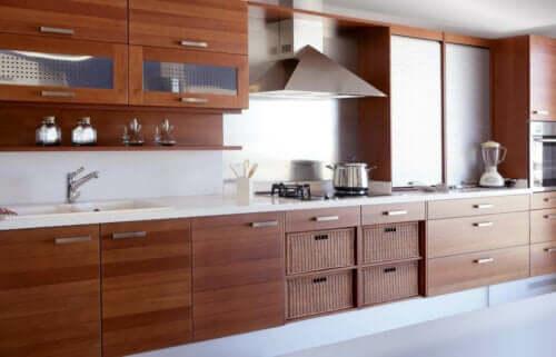 Cucina in legno.