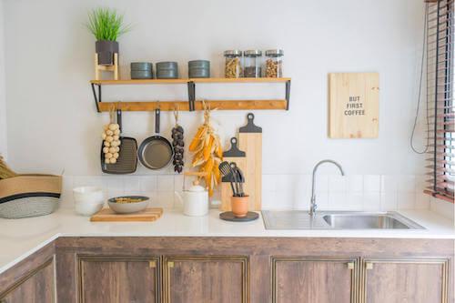 Cucina in stile rustico.