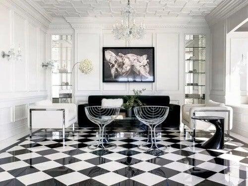 Pavimento a scacchi: stile e coerenza decorativa