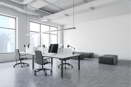 Tavoli da ufficio. Tavolo da ufficio in stile industriale.