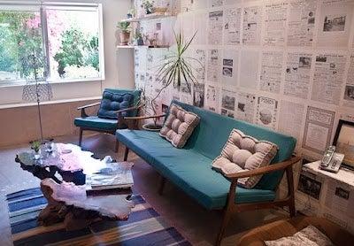 Come decorare la casa con i giornali vecchi